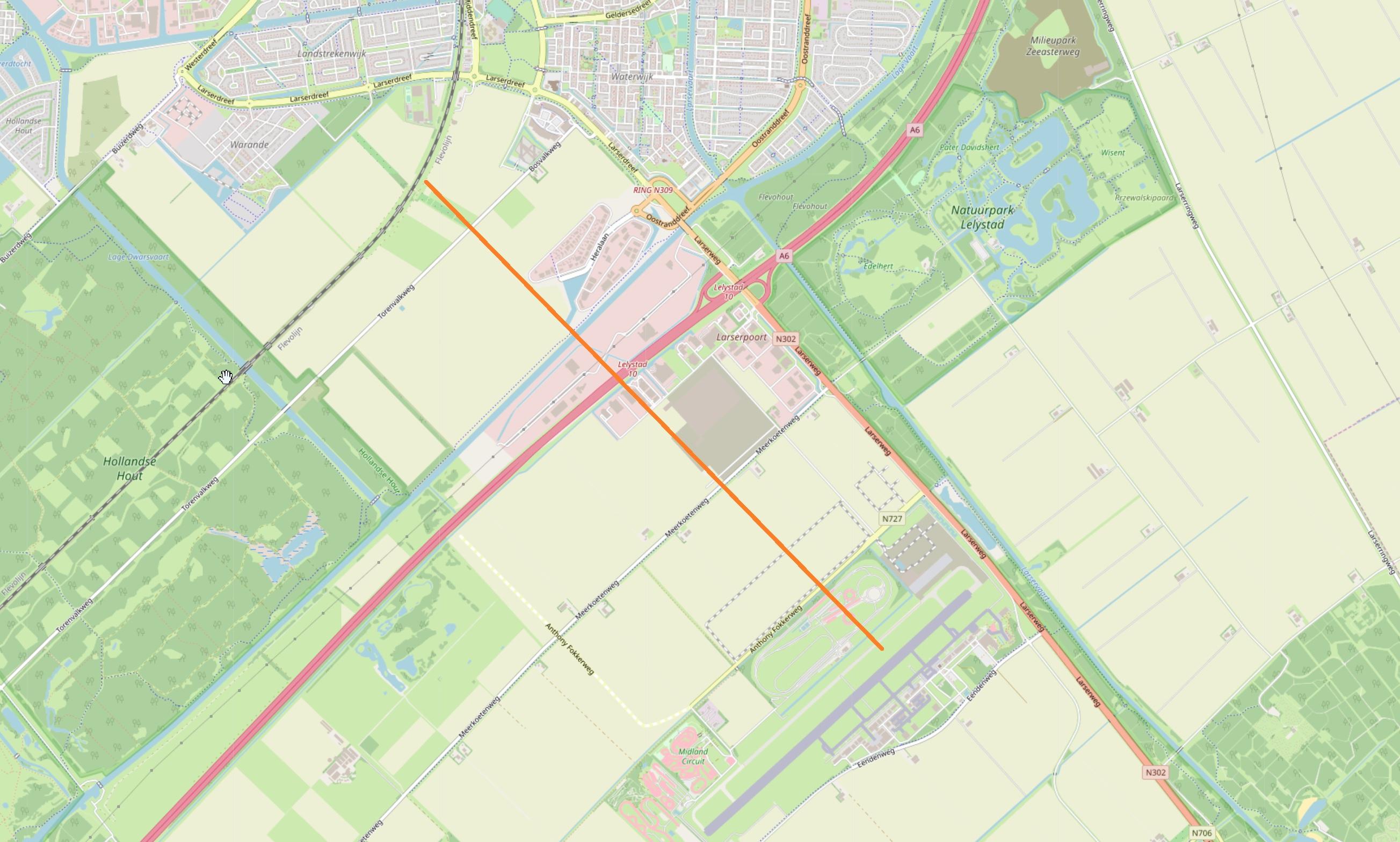 Spoorlijn Lelystad Airport